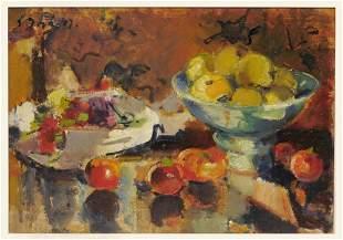 Ludwig Bock, Stilleben mit Äpfeln, 1947