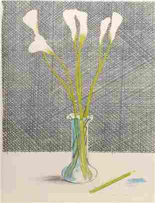 David Hockney, 'Lillies' (Still Life), 1971