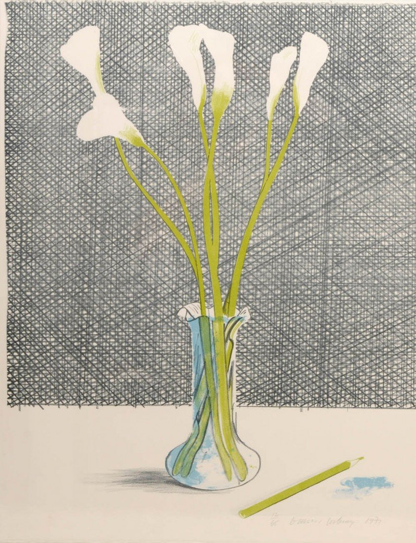 22: David Hockney, 'Lillies' (Still Life), 1971