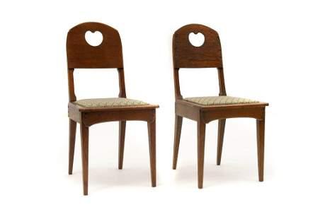138: Richard Riemerschmid, Paar Stühle, 1905