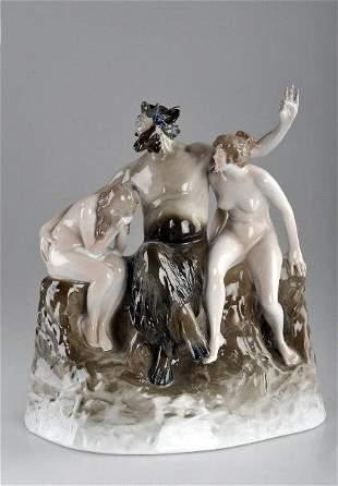 Walter Schott, 'Faun mit Nymphen', 1913