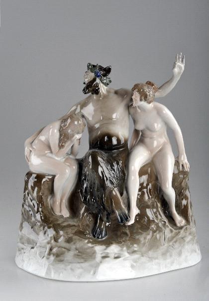 24: Walter Schott, 'Faun mit Nymphen', 1913