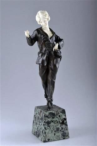 198: Affortunato Gory, Salondame in Hosenanzug, um 1925