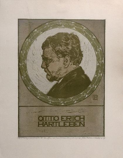 25: Peter Behrens, Porträt des Dichters Otto Erich Hart