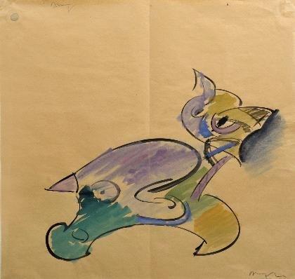 3: Siegfried Anzinger, Komisches Tier, um 1985