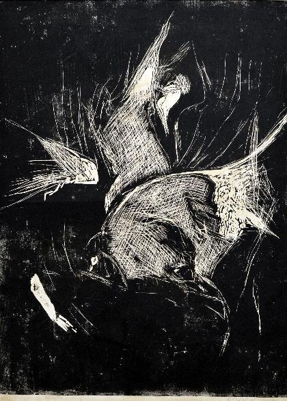 16: Georg Baselitz, 'Elke im Profil', 1977