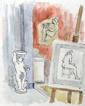 Rolf Diener, Im Atelier, 1978