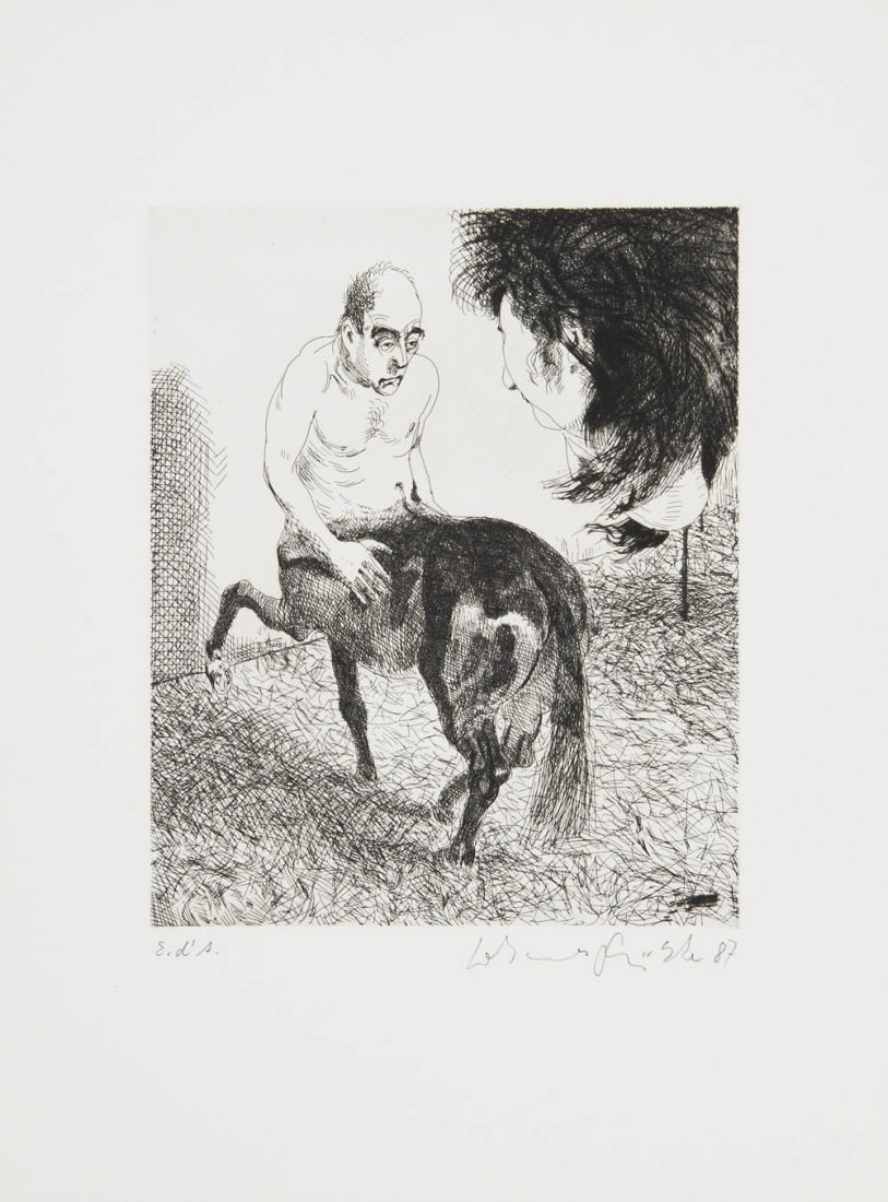 92: Johannes Grützke, 'Hinweis auf F (Freiheit)', 1987