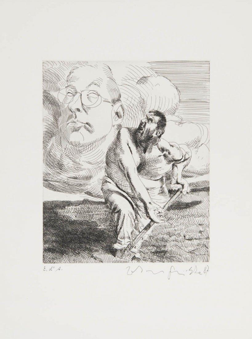 93: Johannes Grützke, 'Erscheinung auf dem Feld', 1987