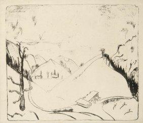 Erich Heckel, 'Berge Im Schnee', 1922