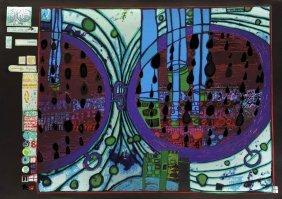 Friedensreich Hundertwasser, 'Regen Auf Regentag',