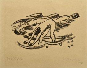 Hermann Max Pechstein, '(Im Wasser II)', 1917