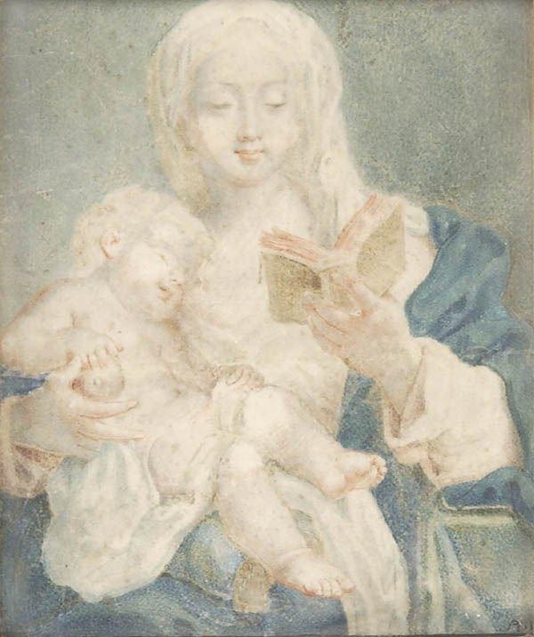 16: Monogrammist A. K., Madonna mit Kind, um 1840