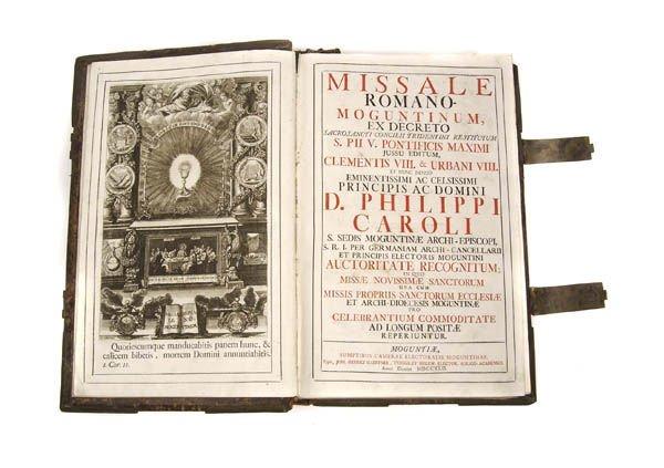 22: Missale romano-moguntinum, Mainz 1742