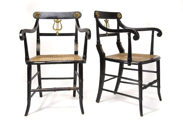 3007: Germany, Pair of Armchairs, ca. 1840