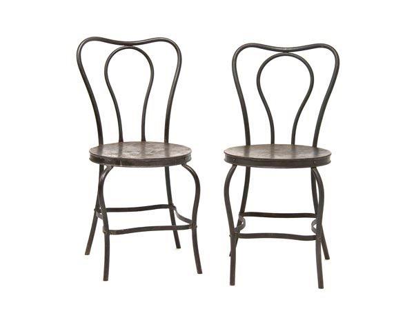 4001: USA, Paar Eisenstühle, um 1860