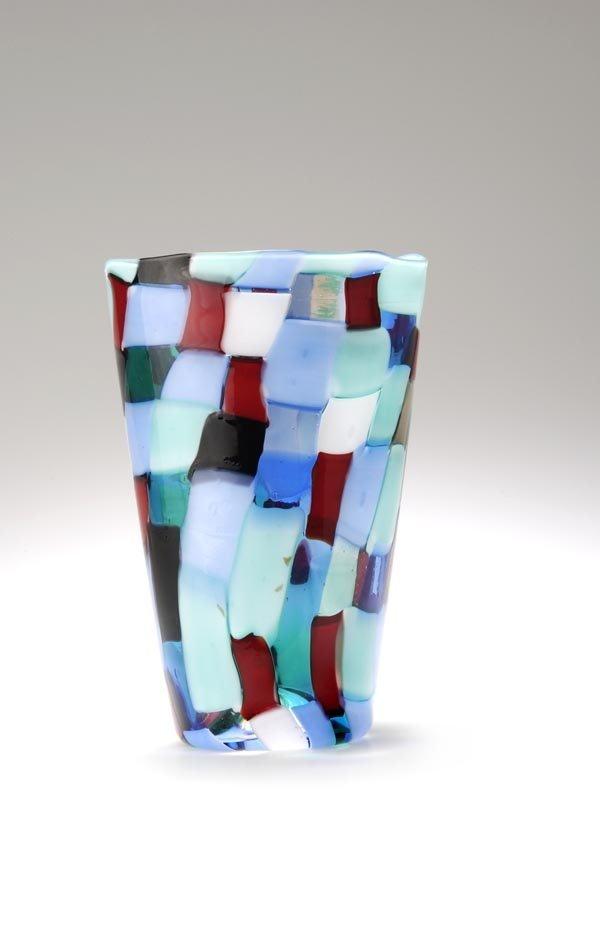 4193: Fulvio Bianconi, Vase 'Pezzato', 1951