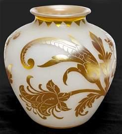 Steuben Acid Cut Back Vase