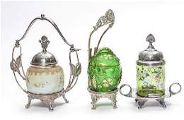 Three Victorian Pickle Castors