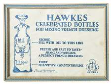 Vintage advertisement for Hawkes oil  vinegar cruets