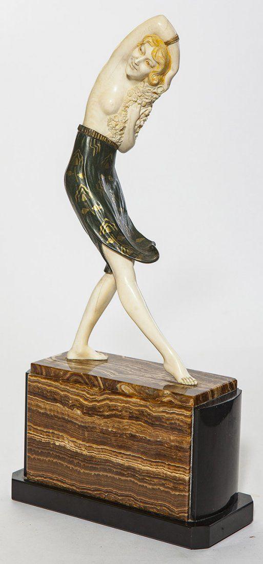 Art Deco sculpture by Samuel Lipchytz, marble and onyx