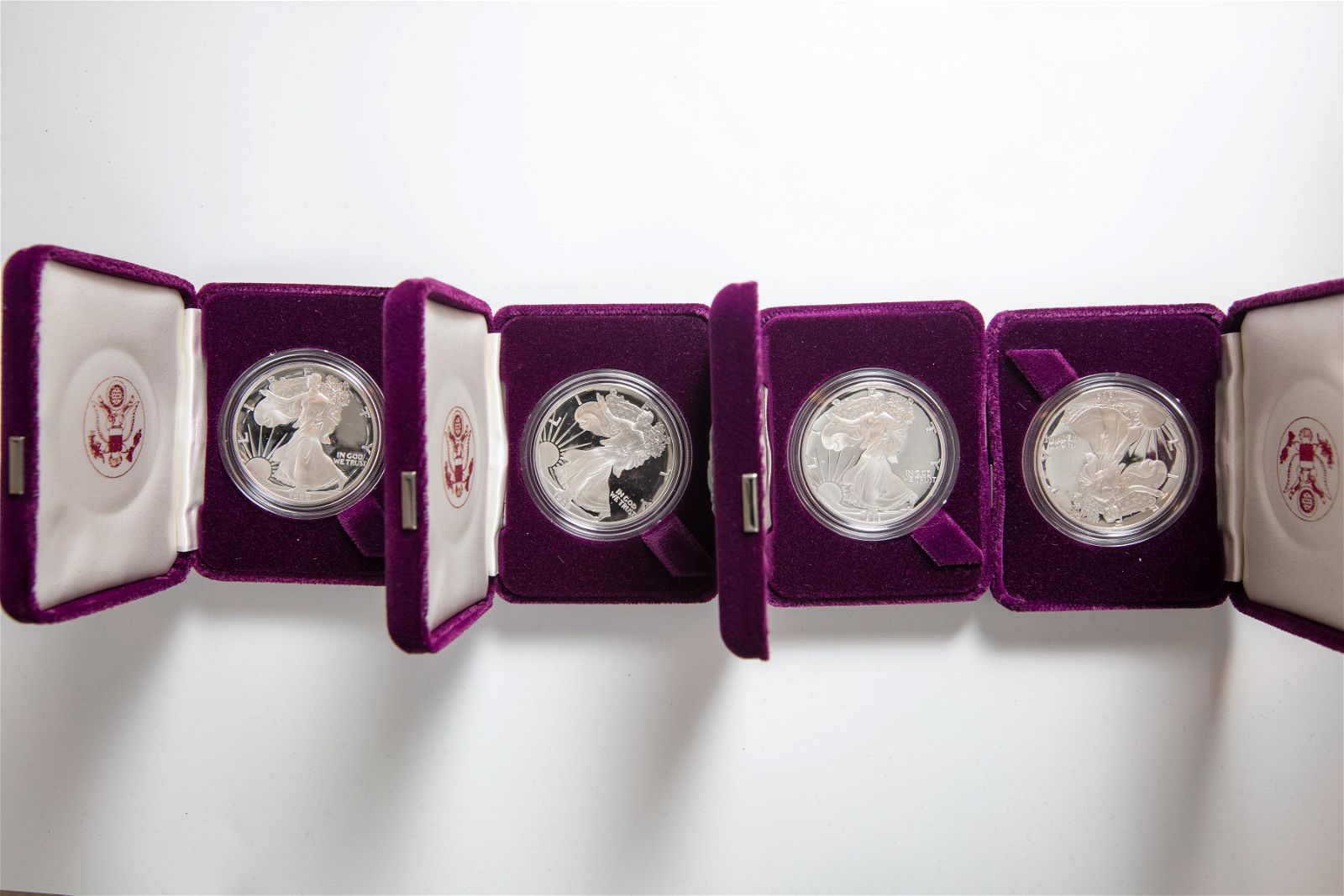 Lot of 4 Silver American Eagle One Ounce Proof Silver