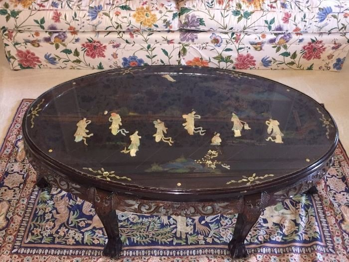 Asian/Japanese carved table