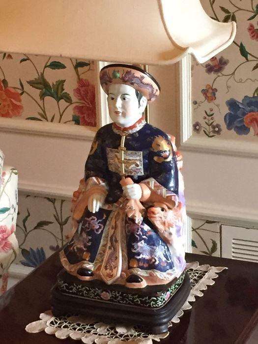 Asian figural lamp