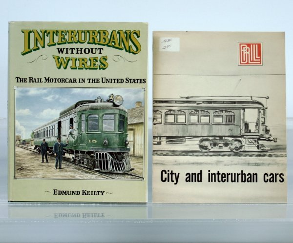 164: 2 BOOKS:  CITY AND INTERURBAN CARS, GOLDEN WEST BO