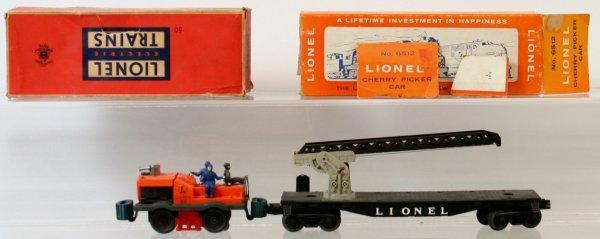 4: LIONEL 6512 CHERRY PICKER, 50 GANG CAR - 2