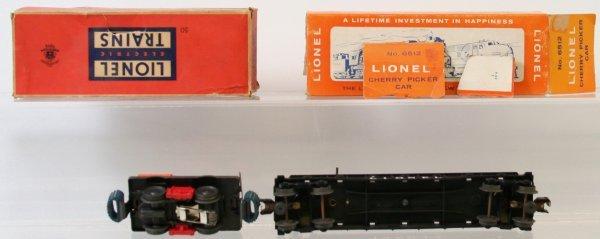 4: LIONEL 6512 CHERRY PICKER, 50 GANG CAR - 3