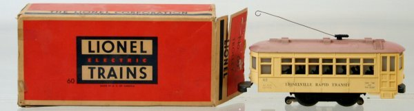 8: LIONEL POSTWAR #50 TROLLEY