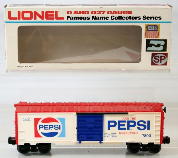 24: LIONEL  PEPSI AND A&W ROOT BEER BOX CARS