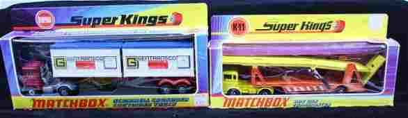 395: MATCHBOX DAF CAR TRANSPORTER, CONTAINER TRUCK