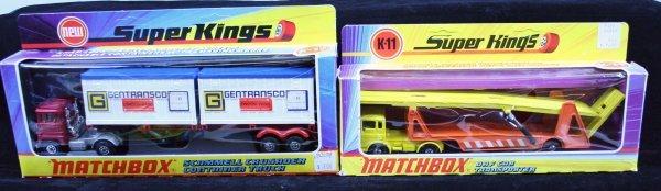 395: MATCHBOX DAF CAR TRANSPORTER, CONTAINER TRUCK