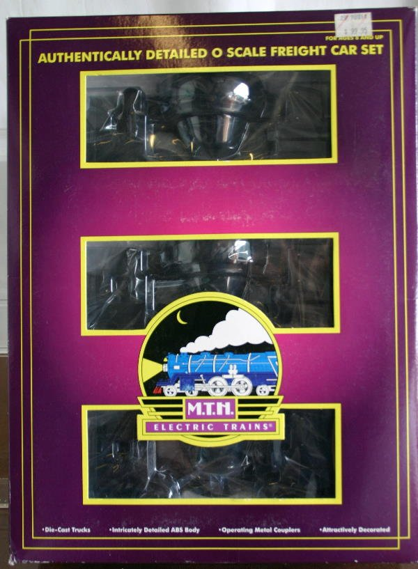 752: MTH 3 CAR SLAG SET. BLACK.  Box: YES