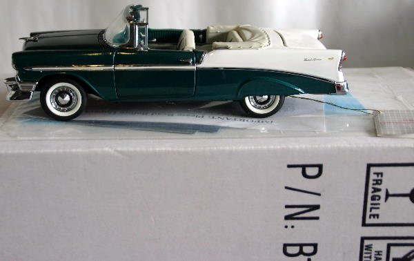 757: FRANKLIN MINT 1956 CHEVROLET BEL AIRE CONVERTIBLE
