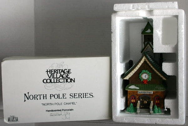"6: DEPT 56 NORTH POLE SERIES 5626-0 ""NORTH POLE CHAPEL"""