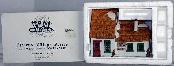 10: DEPT 56 DICKINS VILLAGE COTTAGE OF BOB CRATCHIT AND