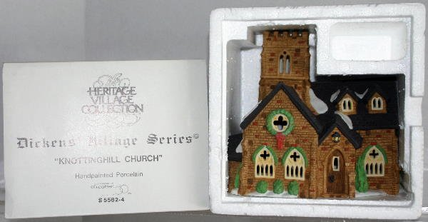 20: DEPT 56 DICKENS VILLAGE KNOTTINGHILL CHURCH 5582-4
