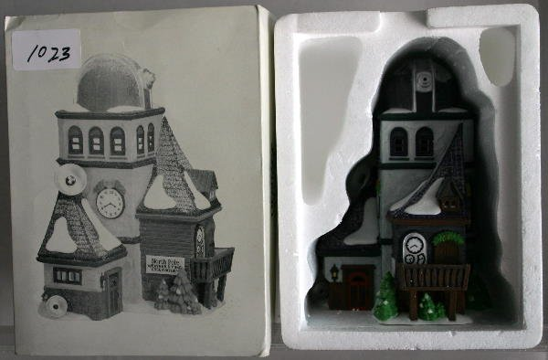 24: DEPT 56 NORTH POLE SERIES WEATHER AND TIME OBSERVAT