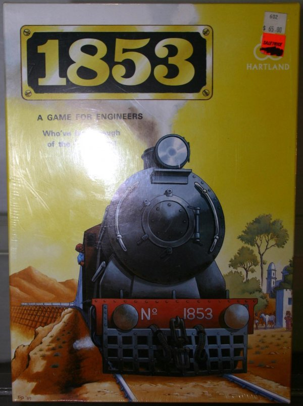 702: 1853 RAILROAD BOARD GAME. Box: YES Stock#: GAME