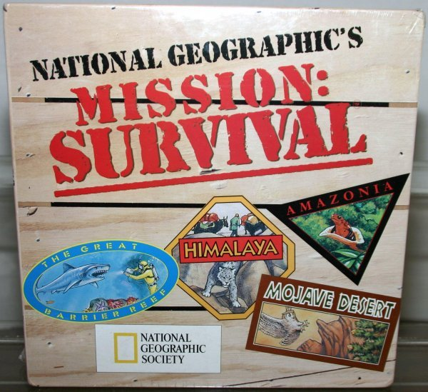 704: MISSION SURVIVAL BOARD GAME Box: YES Stock#: GAME