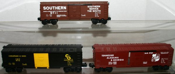 705: LIONEL 0 GAUGE 9727, 9715, 9711 TAG, C&O, SOUTHERN