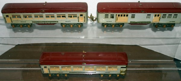 828: IVES O GAUGE 1695, 1696, 1697 COACH, BAGGAGE, OBSE