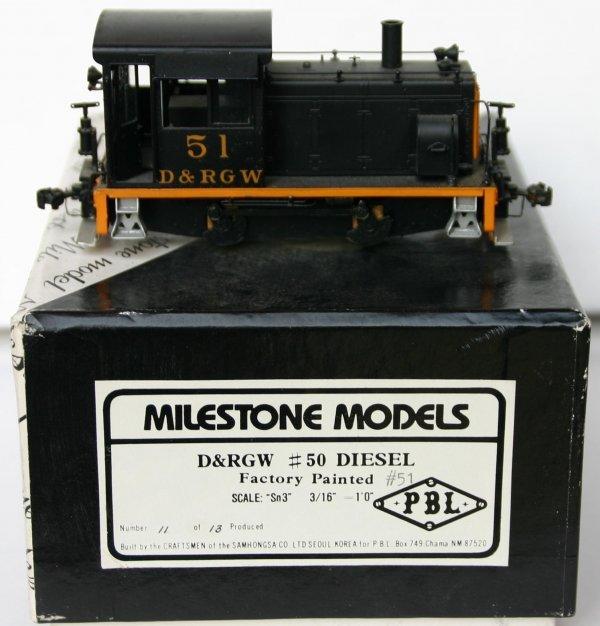 13: MILESTONE MODELS Sn3 D&RGW #51 DIESEL. #11 OF 13 MA