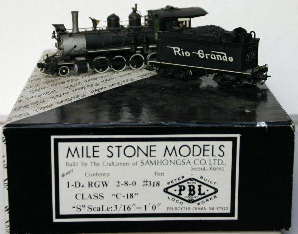 17: MILESTONE MODELS Sn3 D&RGW #318 C-18 2-8-0 #054. MA