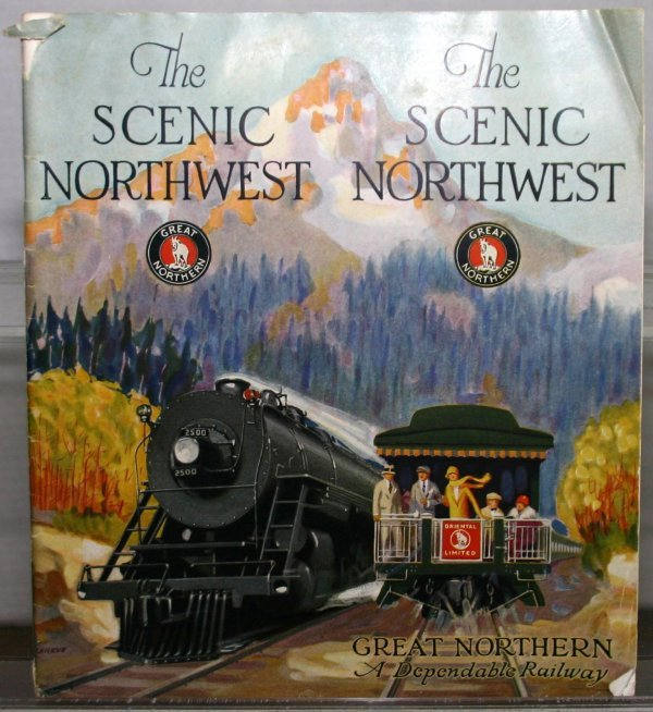 "282: ""THE SCENIC NORTHWEST"" GREAT NORTHERN RR MAGAZINE"