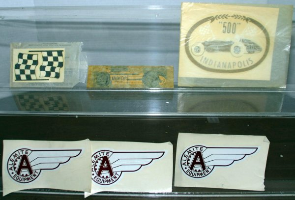 283: MISC. 1960'S INDY 500 DECALS. Condition: EX Box: N