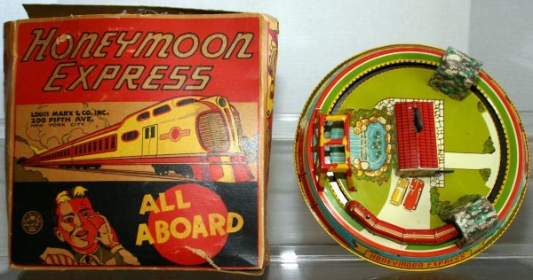 296: MARX 1930'S VINTAGE HONEYMOON EXPRESS TIN WIND-UP